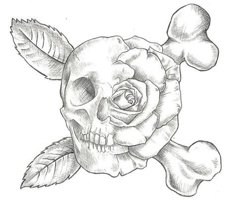 black rose skull tattoo designs skull and design by jinx2304 on deviantart