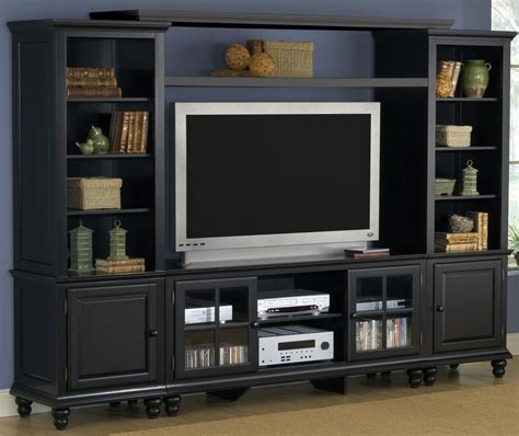 entertainment room furniture hillsdale grand bay large entertainment wall unit black 6123lec hillsdalefurnituremart