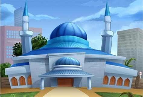 wallpaper animasi masjid masjid kartun moca