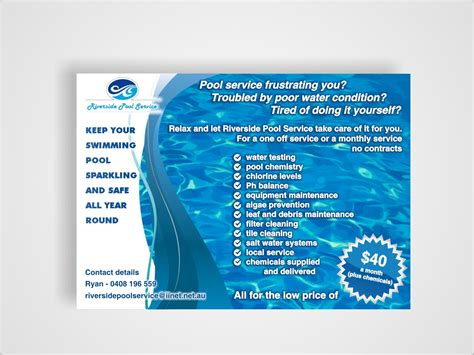 Introduction Letter Swimming Pool Company 38 serious modern pool service flyer designs for a pool