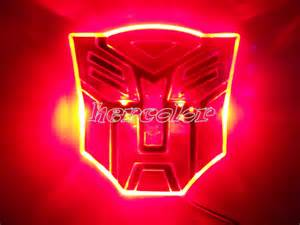 transformers for lights led transformers autobot 3d logo emblem badge decal car