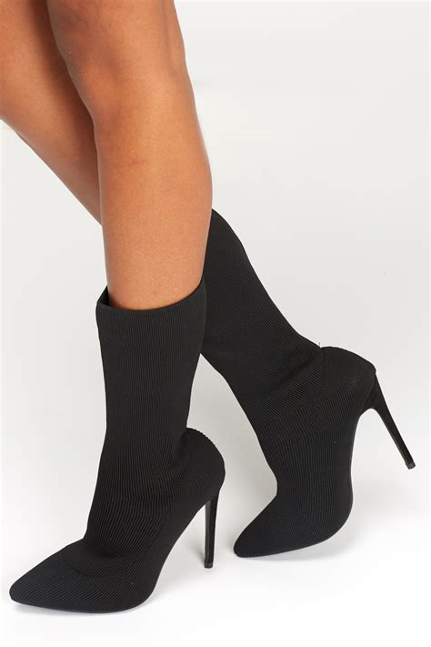 sock high heel boots sergio todzi high heel stretch sock boots limited