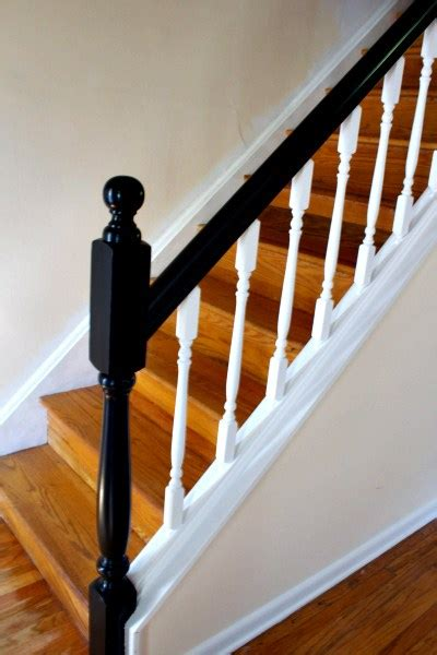 oak banister makeover how to update railings and spindles on stairs centsible life