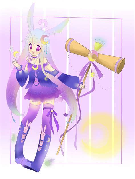 Moon Rabbit Gold Batch Liquid moon rabbit adoptable open by kawaiiwataisuki on deviantart