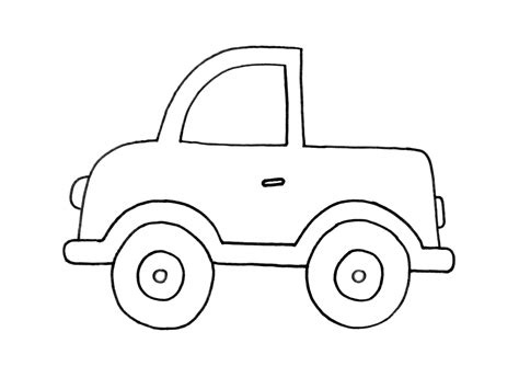easy coloring cars coloring pages