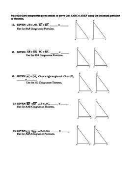 Sss Sas Aas Hl Worksheet by Geometry Unit 8 Congruent Triangles Sss Sas Aas Hl