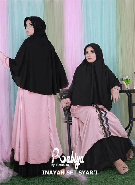 Pusat Gamis Terbaru inayah set syari by rabiya baju muslim gamis modern