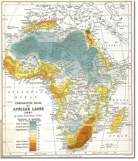 africa map history comparative value of lands cartography