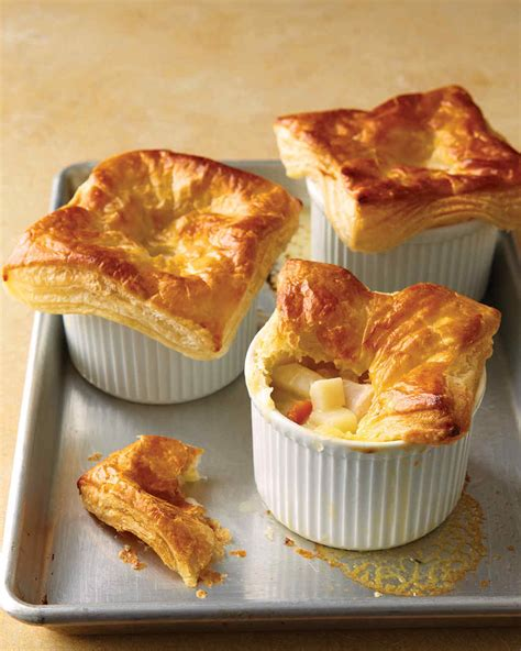 Chicken Pastry chicken potpies with puff pastry recipe dishmaps