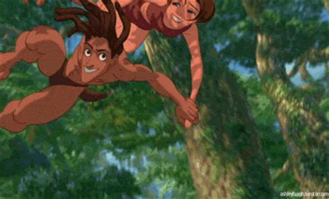 tarzan the jungle man swinging from a rubber band nicole and elle get hot bothered disney hero edition