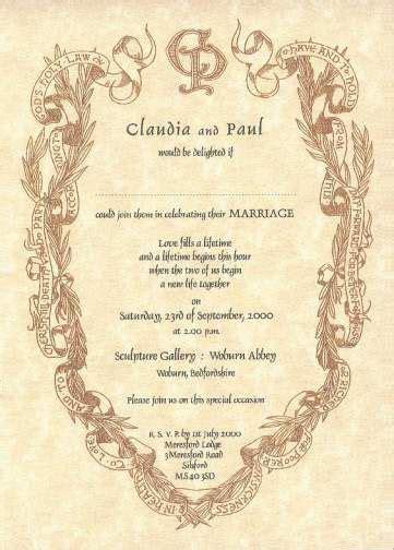 renaissance scroll wedding invitations wedding invitation renaissance writing style wedding