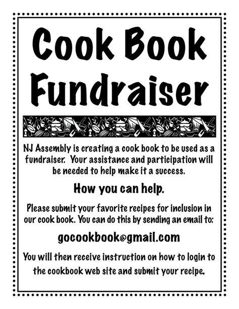 recipe club cookbook books cookbook fundraiser recipe flyer scope of