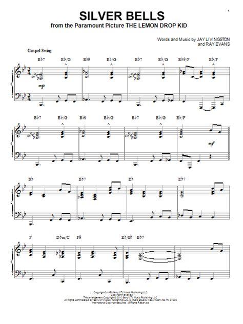 printable lyrics silver bells silver bells sheet music direct