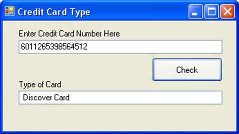 tutorial carding credit card 2014 determine credit card type visual basic net