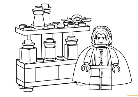harry potter coloring pages snape lego severus snape harry potter coloring page free