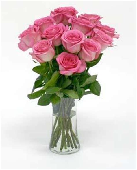 A Vase Of Roses by Kroger One Dozen Pink Roses W Free Vase Cincinnati Oh 45202 Ftd Florist Flower And Gift Delivery