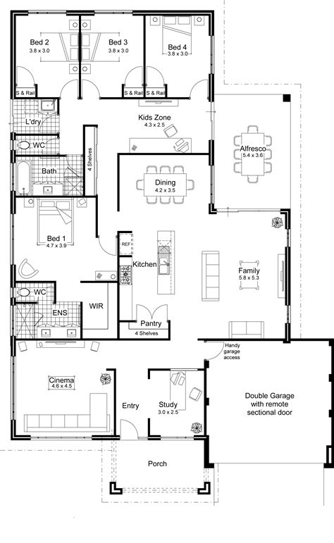 contemporary homes floor plans open floor plans for homes with modern open floor plans