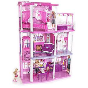Barbie Dream Doll House 3 Story With Furniture 55pc New Ebay