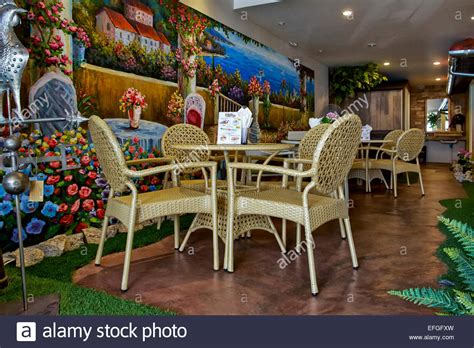 restaurant wall murals italian restaurant interior with feature colourful wall mural of stock photo royalty free image