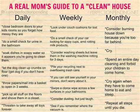 keeping your house clean mother creates hilariously honest housekeeping guide