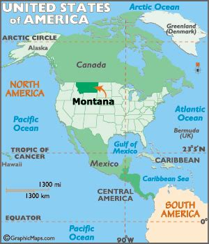 montana map / geography of montana/ map of montana