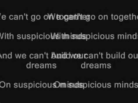 always on my mind testo elvis suspicious minds lyrics
