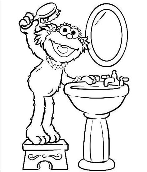 zoe sesame street coloring pages coloring pages