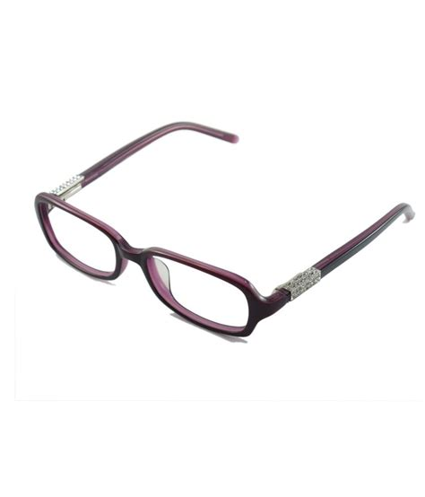 myew eyewear pink non metal rectangle shape
