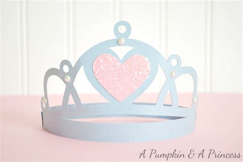 How To Make A Paper Princess Tiara - cinderella favors