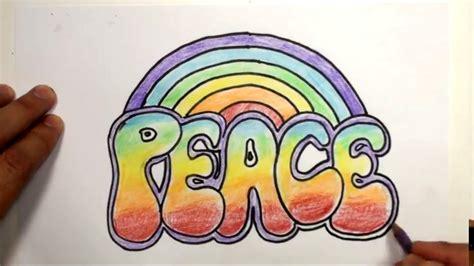 write peace rainbow  style mat youtube