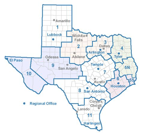 service county texas map counties and regions