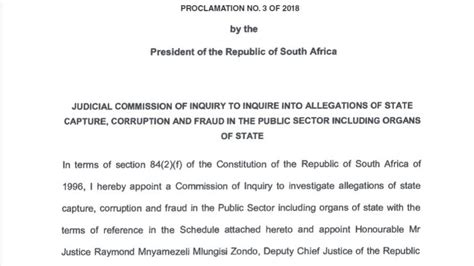 personal references for who capture also prl read the terms of reference for the inquiry into state capture news national m g