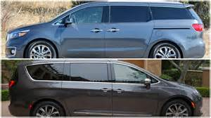 Kia Chrysler 2017 Chrysler Pacifica Vs Kia Sedona