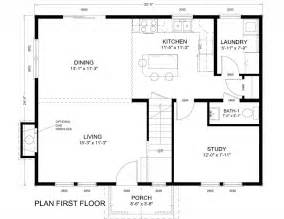 Colonial Home Floor Plans House Plans 24 X 32 Humble Home Design Pinterest