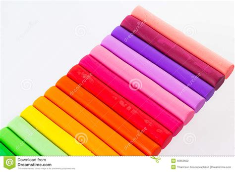 colorful clay colourful modelling clay stock photo image 40653602