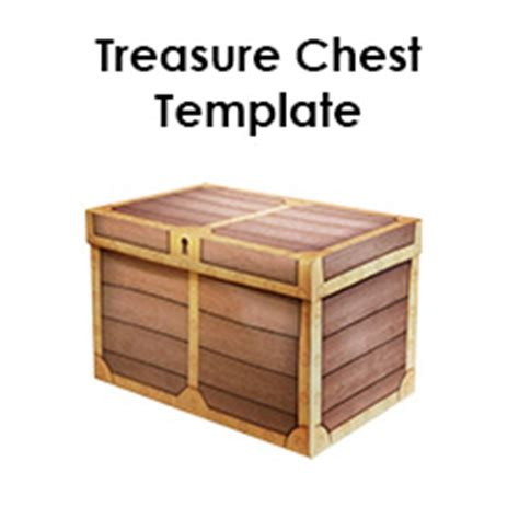 pirate treasure chest template make your own paper