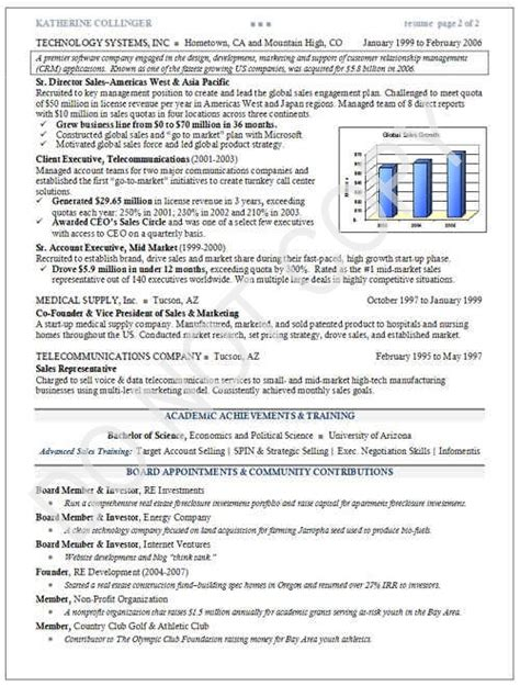 Executive Resume Samples   Mary Elizabeth Bradford   The