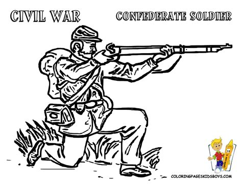 Civil War Coloring Page 01 civil war army soldier at coloring pages boys gif