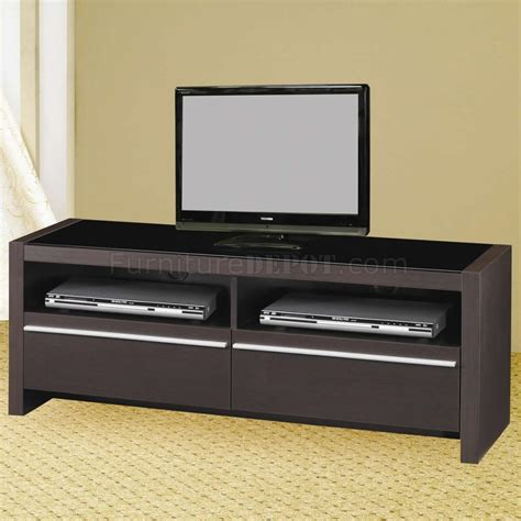 tv stand with drawers and shelves cappuccino finish modern tv stand w shelves two drawers
