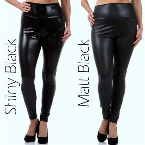 Jogger Monochrome Size Xxxl 2 plus size s solid faux leather high waist