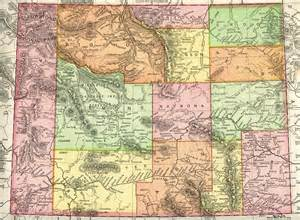 Map Of Wyoming State by Wyoming Homesteading Wyoming Historical Maps
