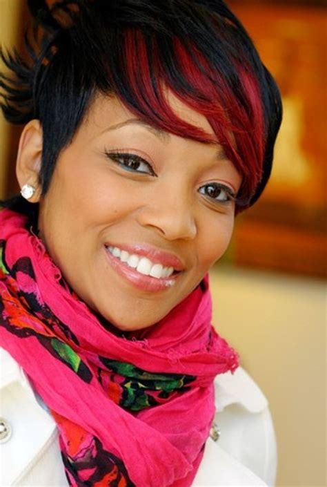 short black red haircut for black women hairstyles weekly