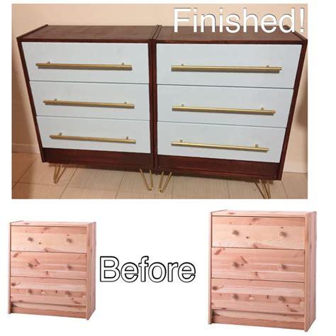 ikea upgrades my ikea rast dresser upgrade wood stain paint hardware