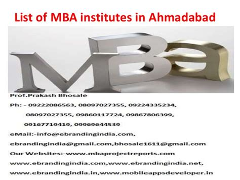 Of Ta Mba by List Of Mba Institutes In Ahmedabad