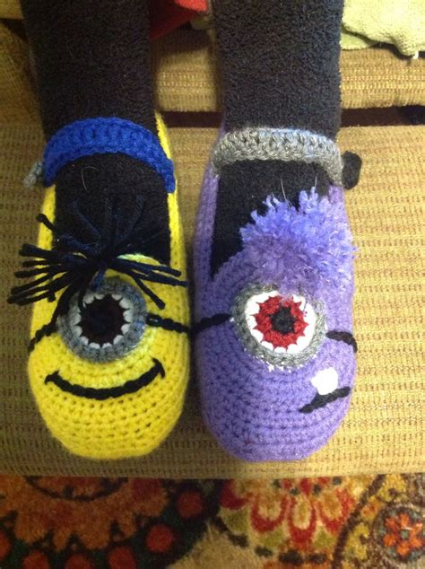 knitted minion slippers minion slippers and evil minions minion craft