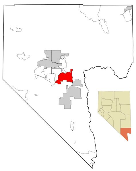 Search Clark County Nevada File Clark County Nevada Incorporated And Unincorporated Areas Henderson Highlighted