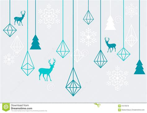 abstract geometric design elements vector geometric christmas ornaments vector stock vector image