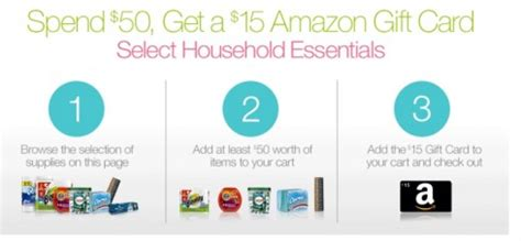 Limited Too Gift Card - amazon 15 bonus gift card wyb 50 household items