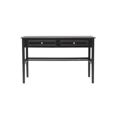 Home Decorators Writing Desk Home Decorators Collection Oxford 48 In W 2 Drawer Standard Writing Desk In Black 2877710210