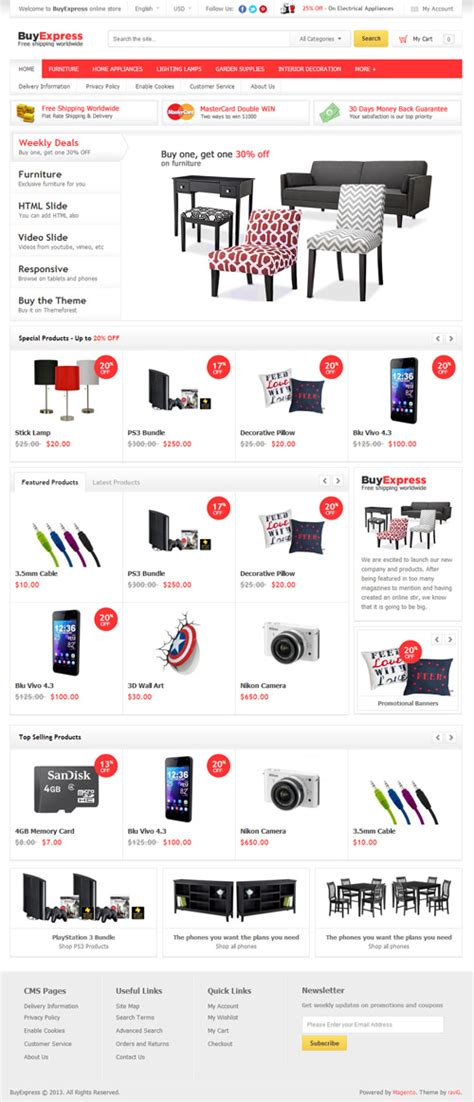 magento ecommerce templates free responsive magento themes for ecommerce websites design